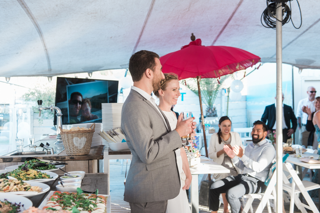 Wedding photography at Beachclub At Sea