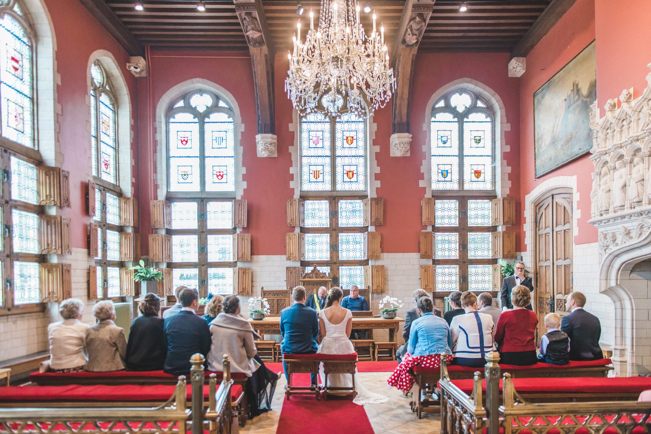 Wedding in Mechelen city hall in Belgium