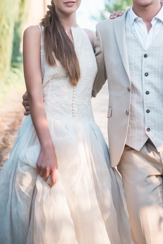 Detail of a Maria Louisa Rabell wedding dress