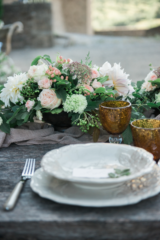 Wedding dinner styled by Honey & Cinnamon Wed