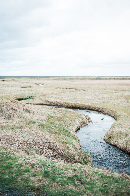 Creek in west Iceland near Black Sand Beach