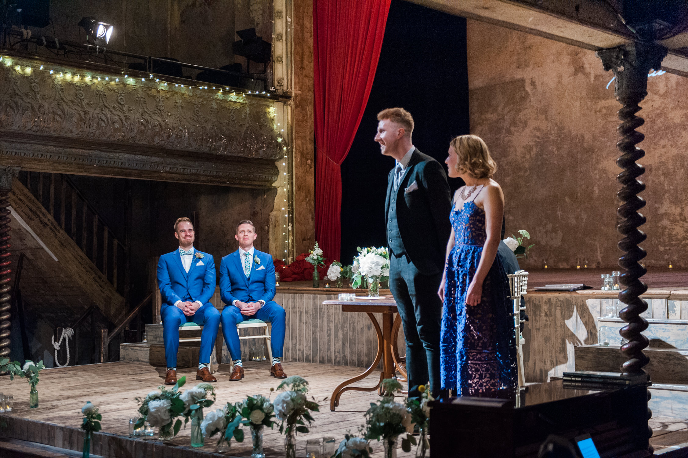 A tip to infuse your wedding with a theater theme, is to get married in a theatre