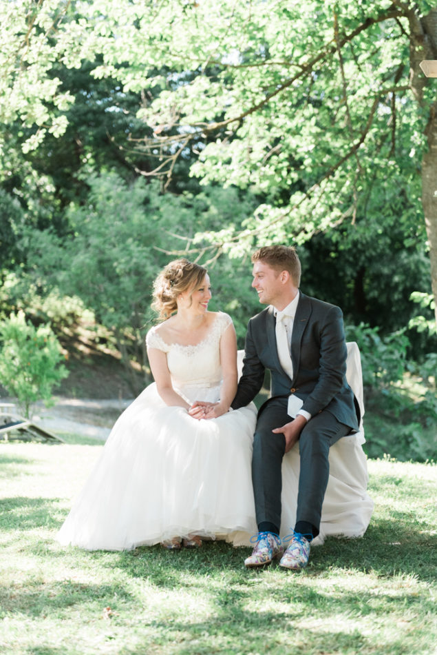 Bride and groom during their outdoor ceremony in Italy captured by English speaking destination wedding photographer in Italy
