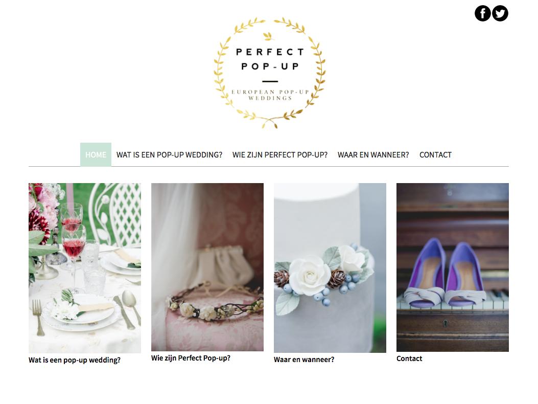 Website pop-up wedding
