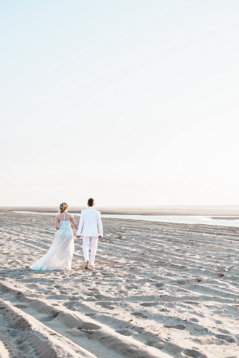 Wedding photography on the beach of the hague in the netherlands