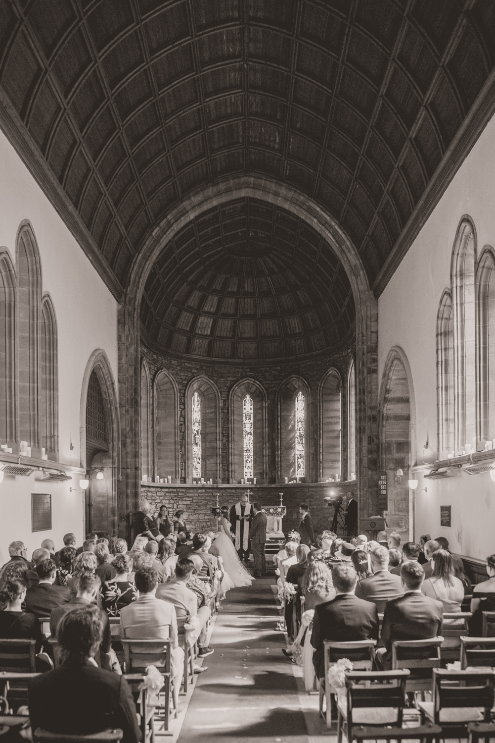 A wedding in St. Palladius Church near Drumtochty Castle photographed and filmed