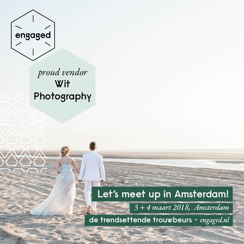 You can meet this wedding photographer in Amsterdam at Engaged wedding fair!