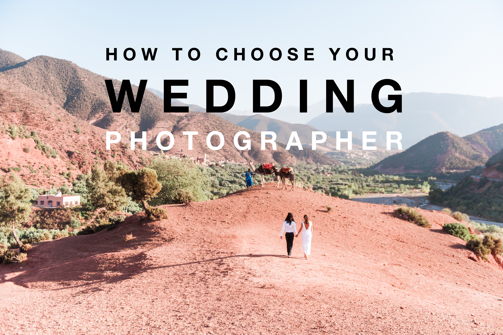 Front for an article about how you go about to choose your wedding photographer
