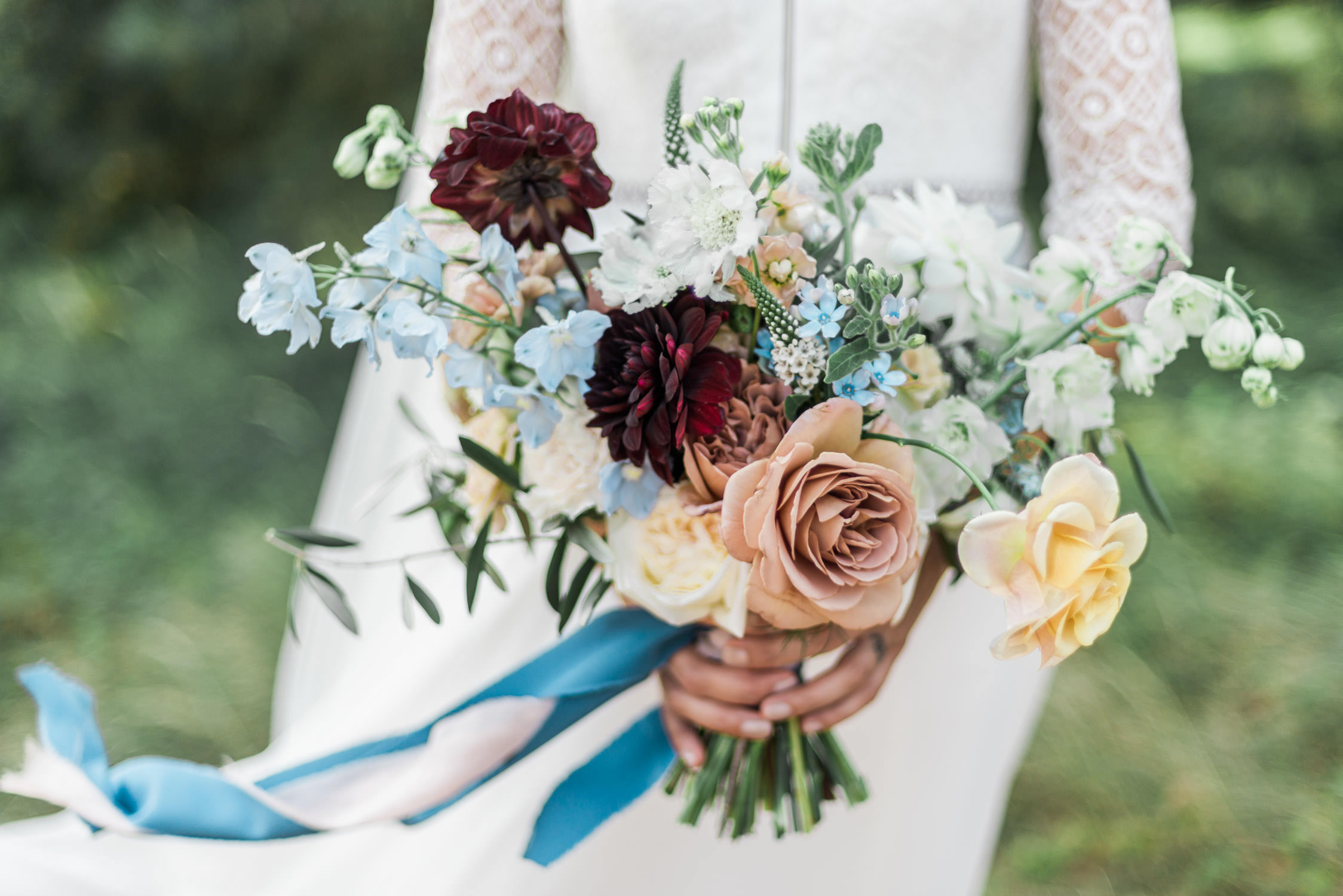 Gorgeous organically styled wedding bouquet by Edenique Floral Design
