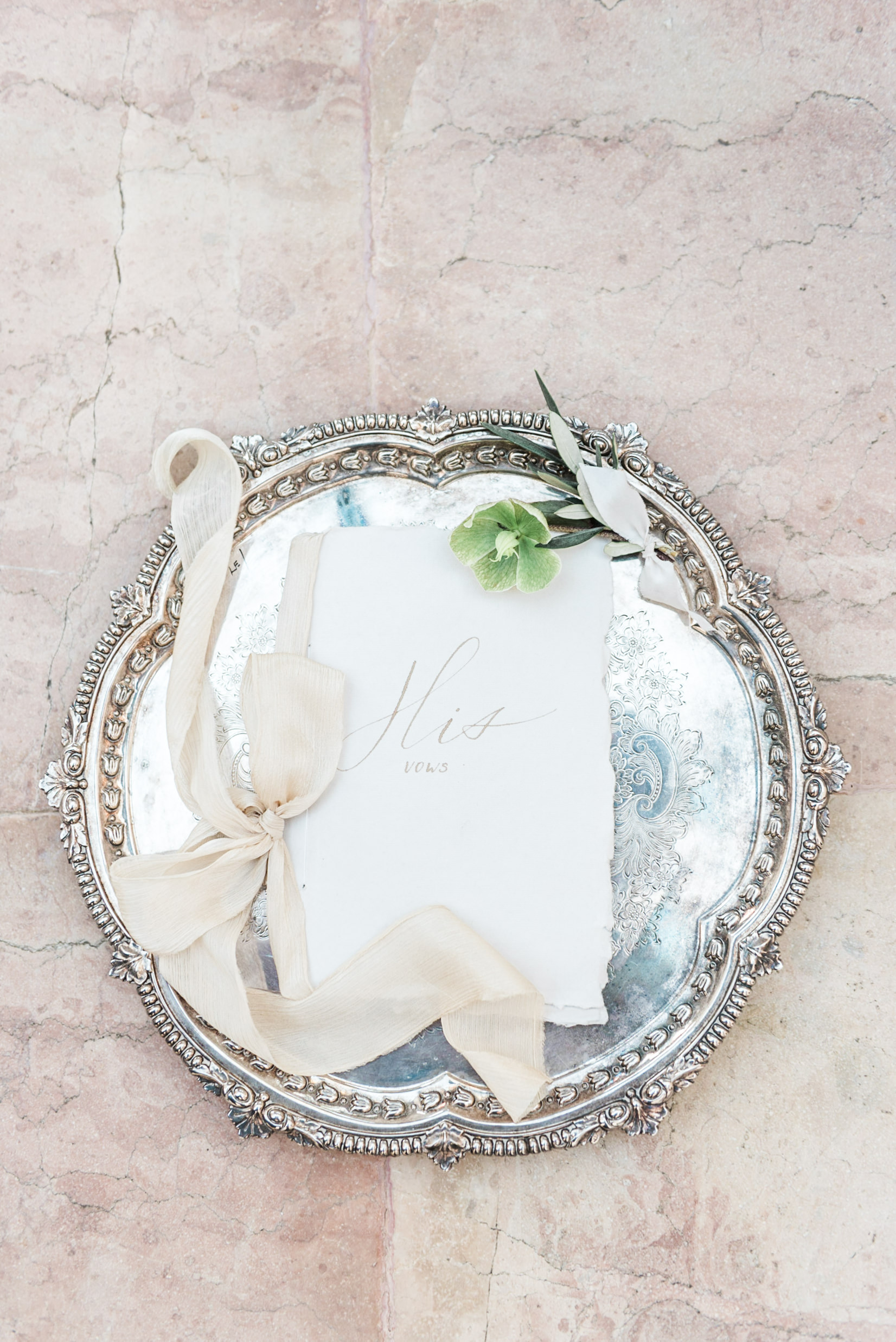 Spetses wedding photography of a vow book
