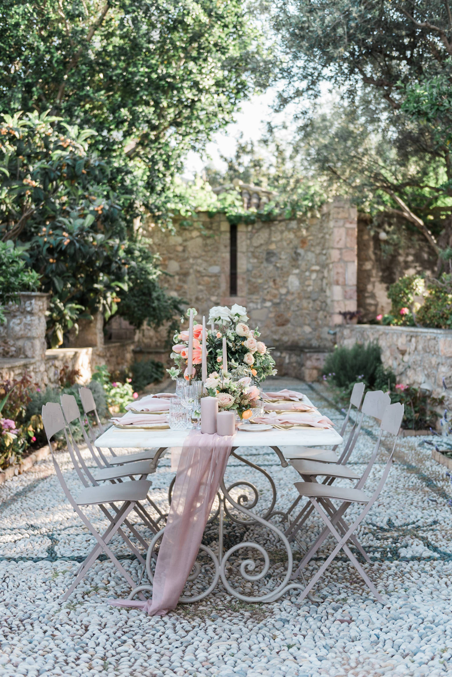 Spetses destination wedding in a villa inspiration