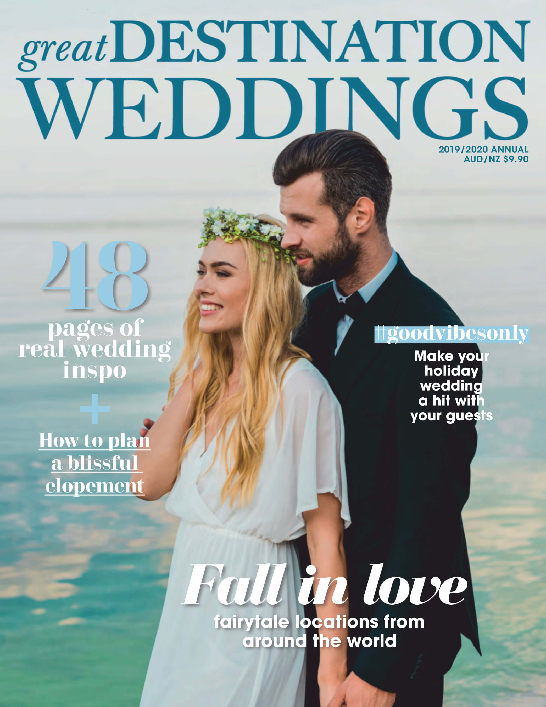 Cover of a magazine Wit Photography, a european destination wedding photographer got published in