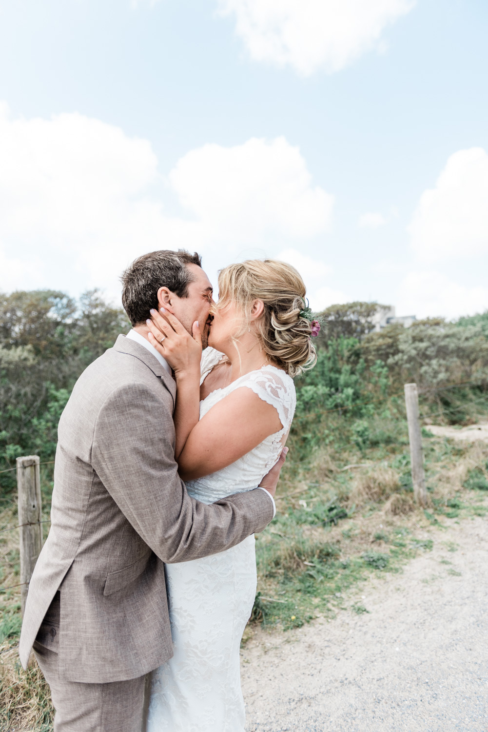 A first look for a bride and groom in Scheveningen