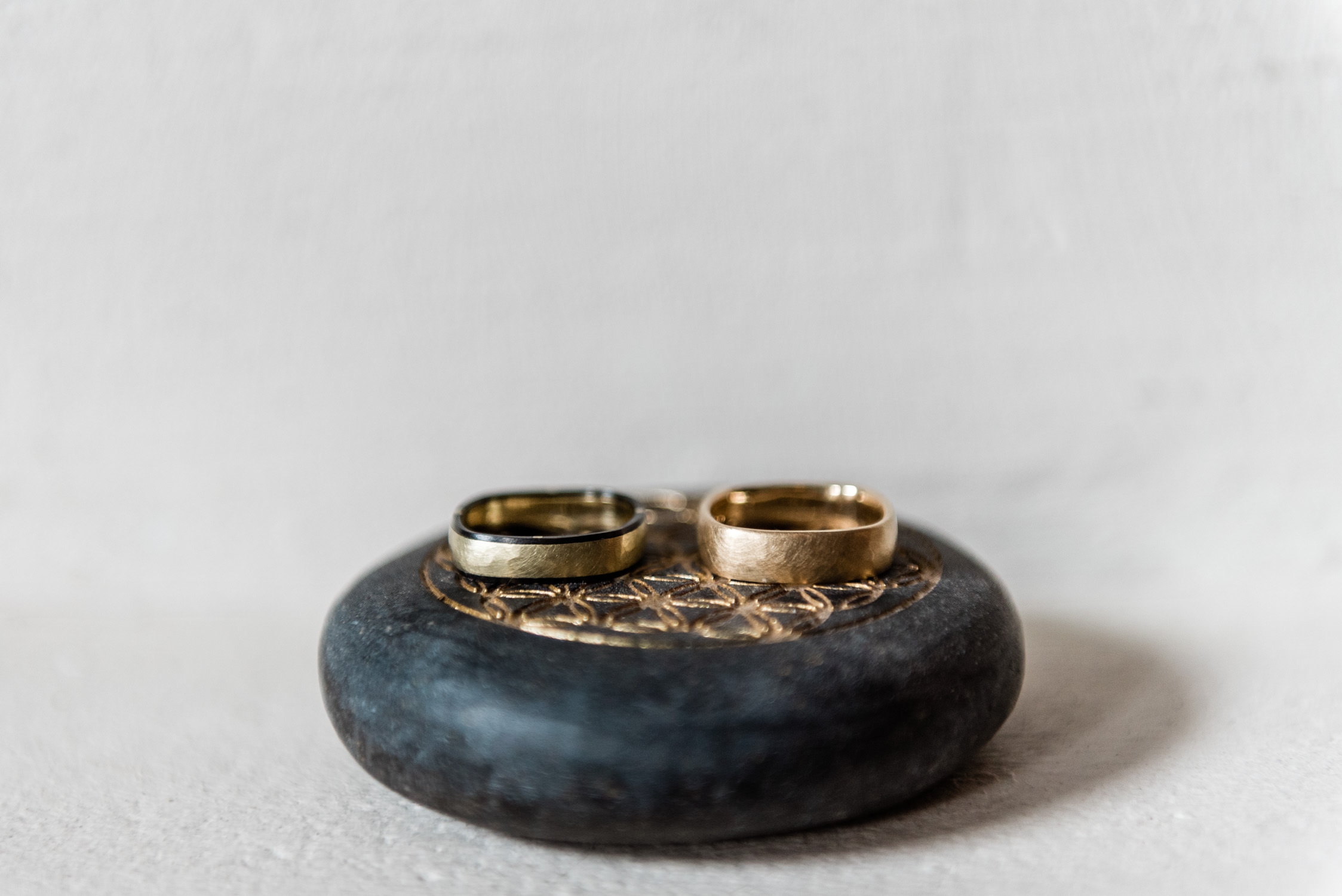 Two male wedding rings at a wedding in Amsterdam