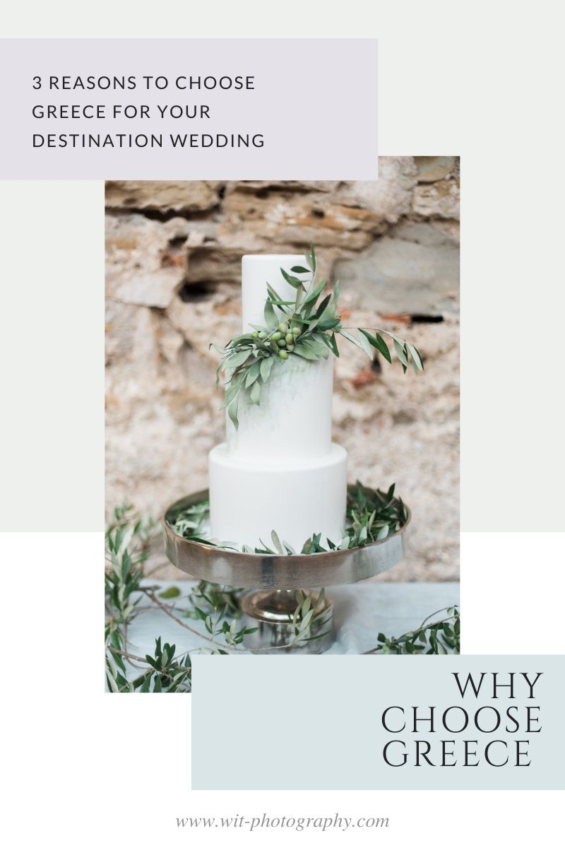 Pin Reasons to choose Greece for your destination wedding