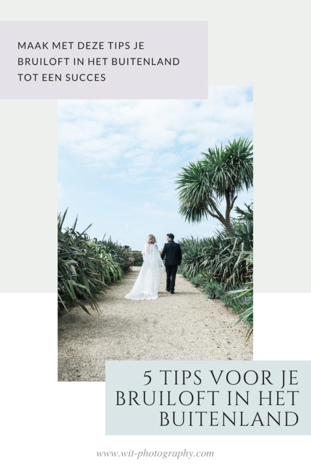 tips voor het plannen van bruiloft in het buitenland