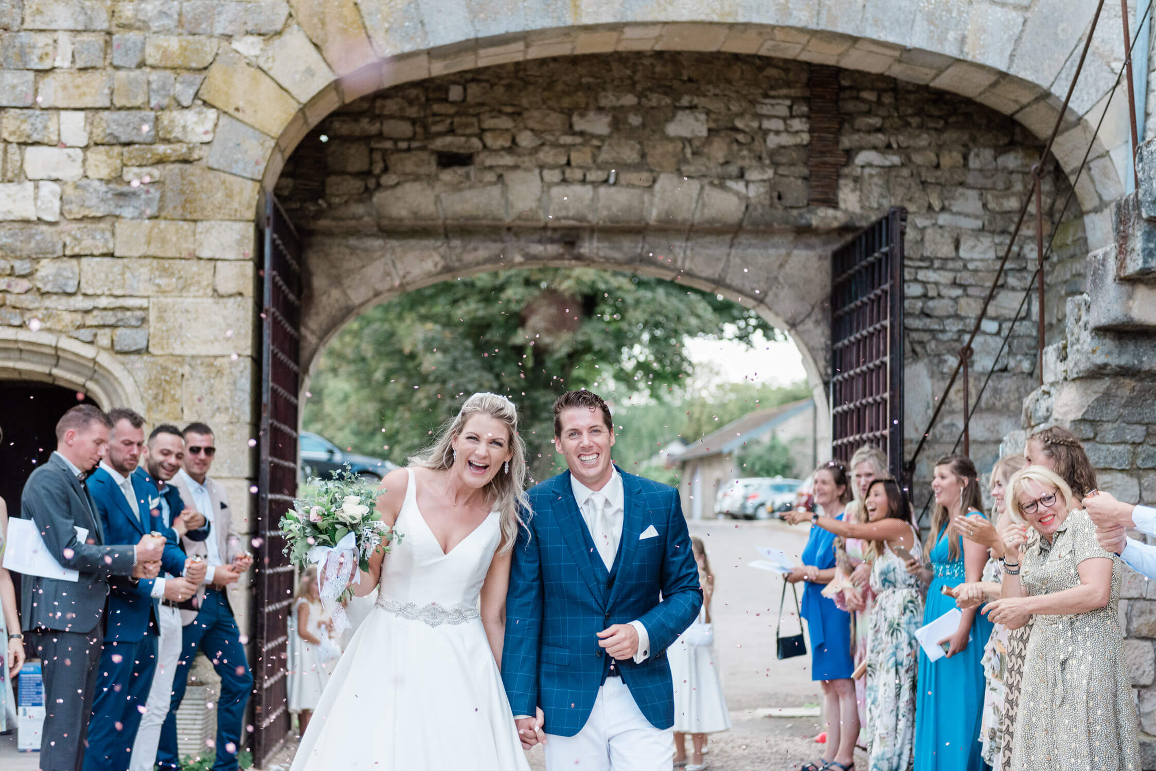 A confetti shot at Chateau d'Hattonchatel