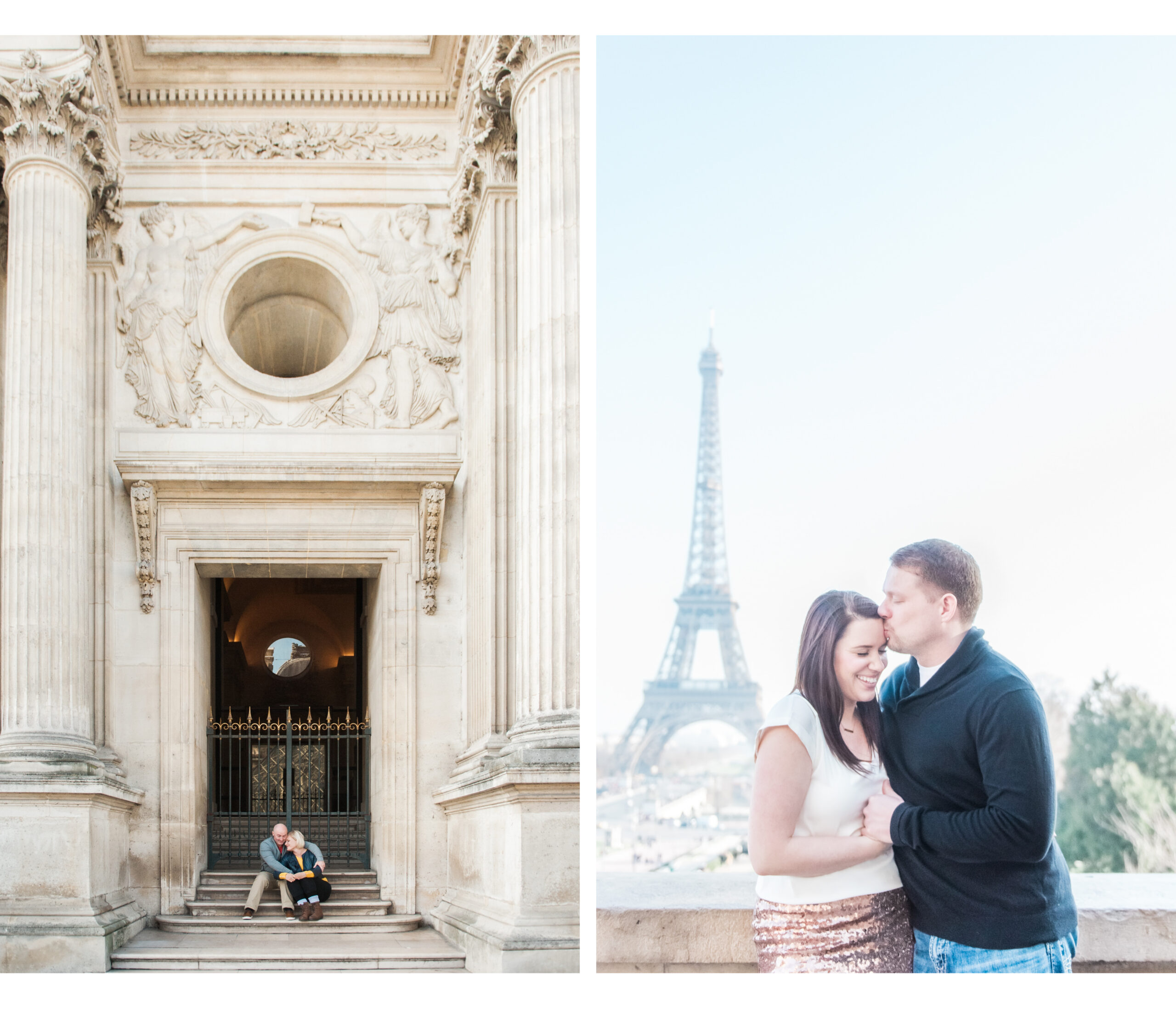 couple shoot at the Paris city centre around the Louvre and Eiffel Tower