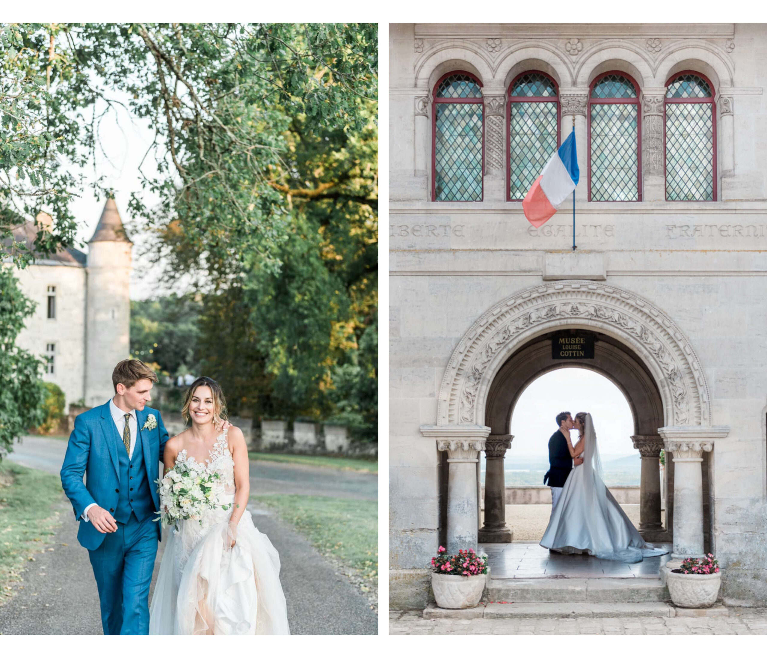 The work of an English speaking wedding photographer in France