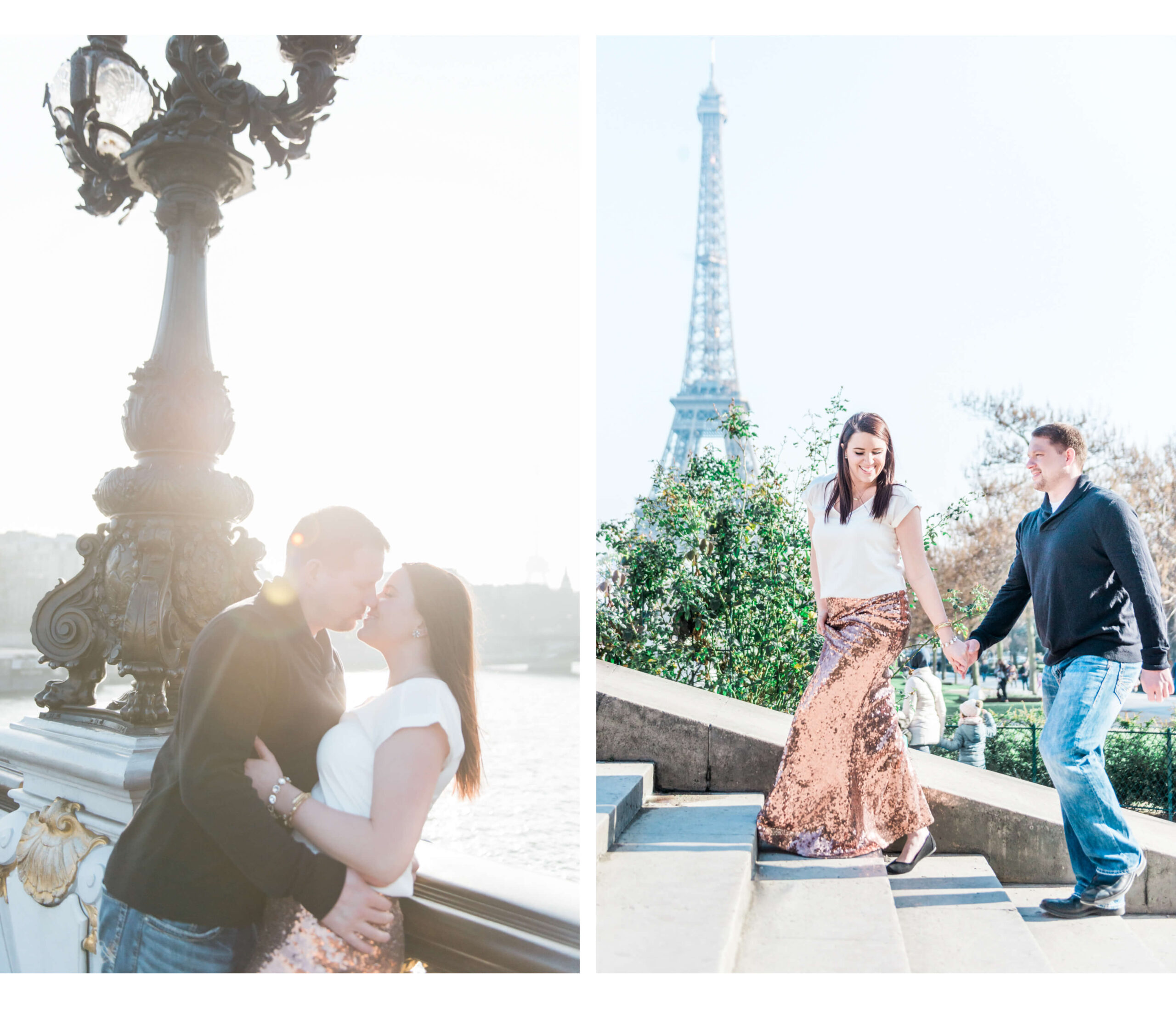 A Paris love shoot with a couple from the states