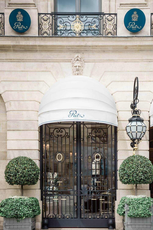The Ritz Paris was the venue where this elopement wedding took place