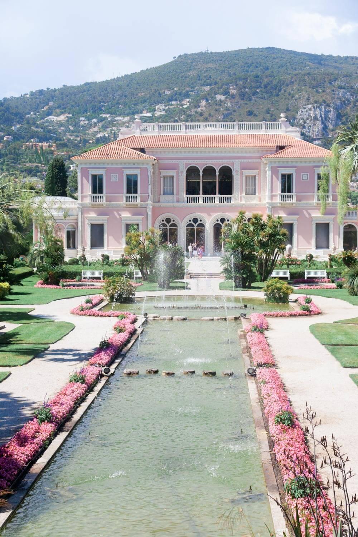 South of France pink villa wedding venue